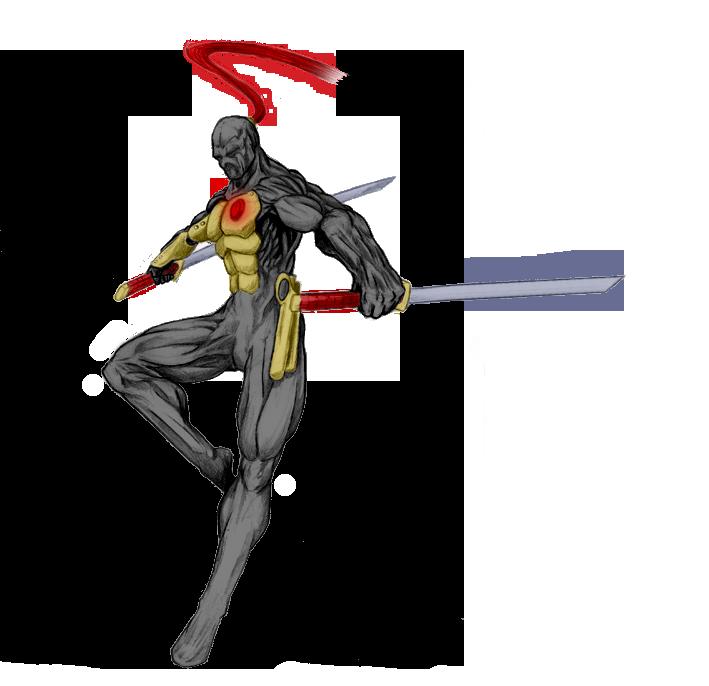 Ninja Cyborg Gold Armor by God-of-Fighting on DeviantArt