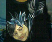 painting on t-shirt by dwiope