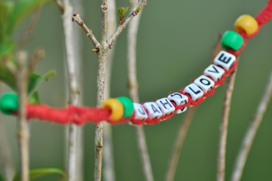 Jah Love childs Rasta Anklet by ilovebobmarley86