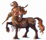 Lumroch the Centaur Totem Barbarian