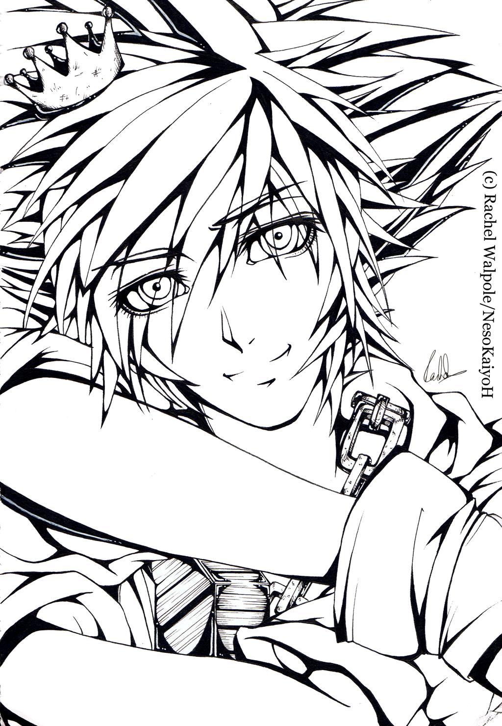 Kingdom Hearts Lineart : Kingdom hearts sora lineart by nesokaiyoh on deviantart
