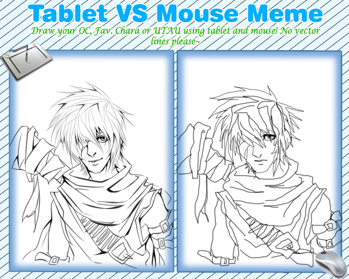 Drawing Lines With Tablet : Tablet vs mouse meme by nesokaiyoh on deviantart