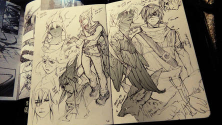 Valley of the Gods Character Designs - Caio, Aaro