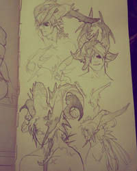 Day Four - Headdress Designs by NesoKaiyoH