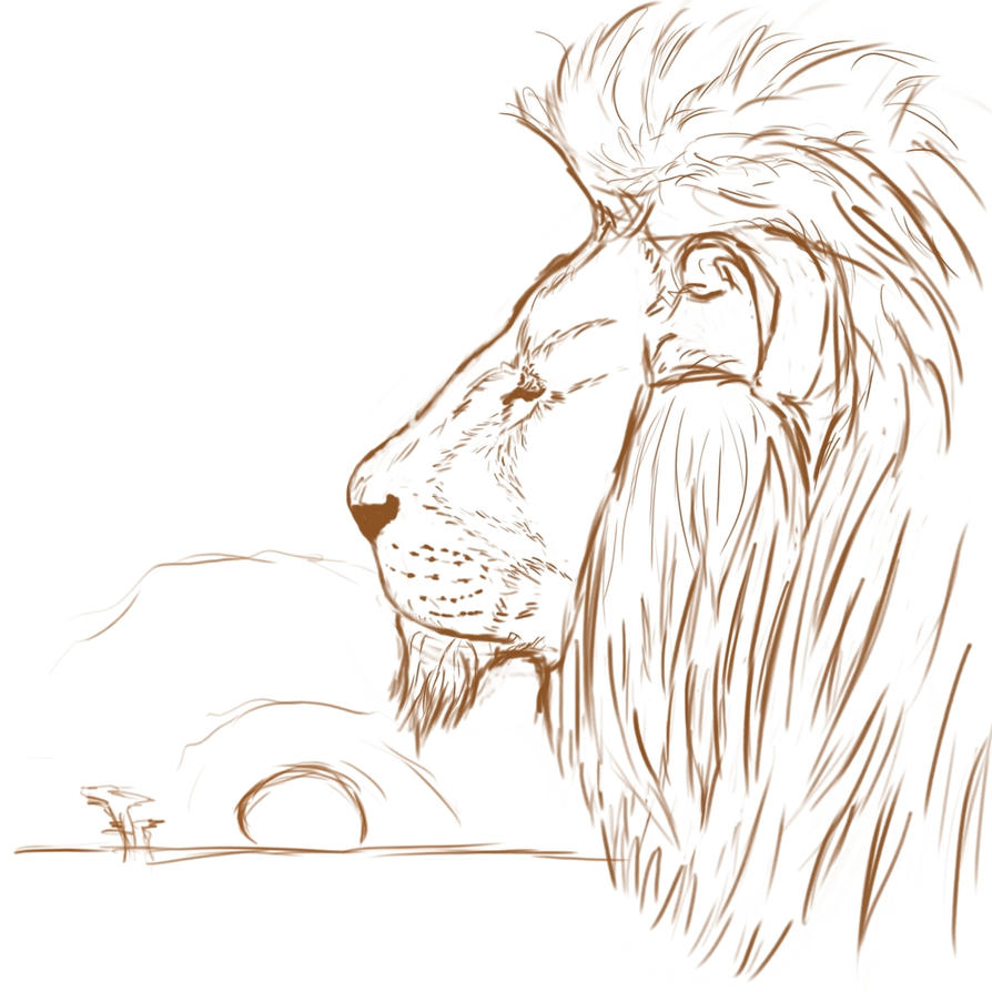king of the animals sketch by mr whoopee on deviantart