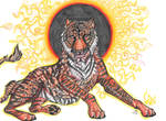 Fire Tiger  by Resennar