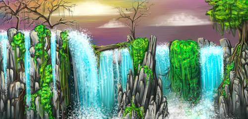Hidden Waterfalls by Tapiouche