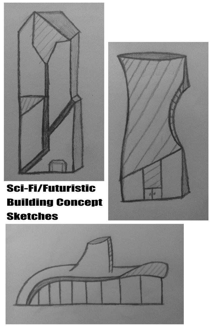Sci FiFuturistic Building Concept Sketches by Midgesaurus