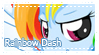 MLP Rainbow Dash stamp by Schwarz-one