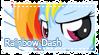 MLP Rainbow Dash stamp by Schwarz-one