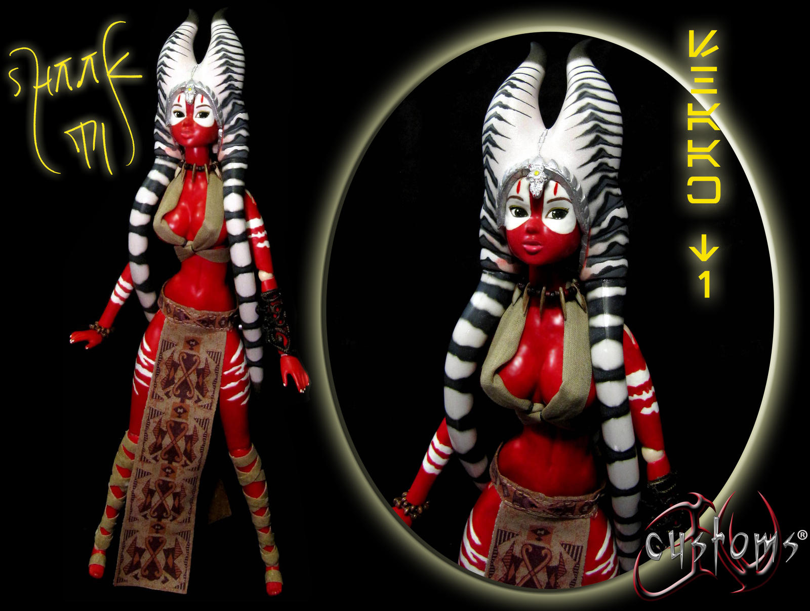 Shaak Ti Felucian Outcast Custom Doll by JVCustoms by jvcustoms