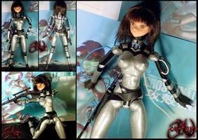 Motoko Kusanagi Custom Doll by jvcustoms