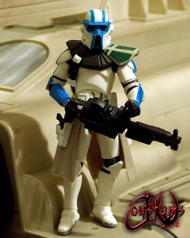 AUCTION Star Wars Clone Heavy Gunner Custom Figure by jvcustoms