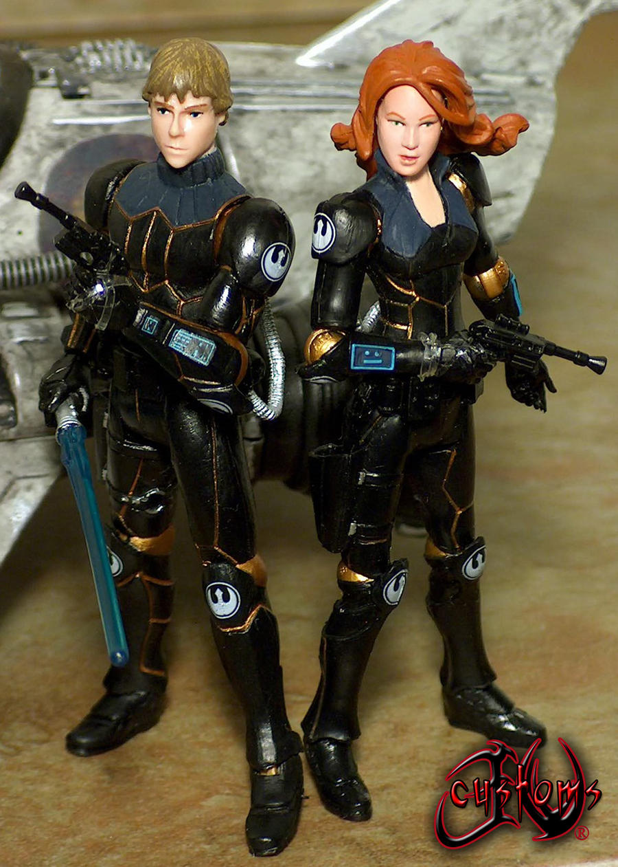 Luke and Mara Jade Skywalker JVCustoms by jvcustoms
