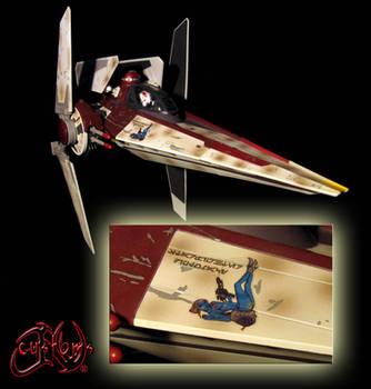 V-Wing Starfighter Diplomacy Riyo Chuchi Custom V1 by jvcustoms