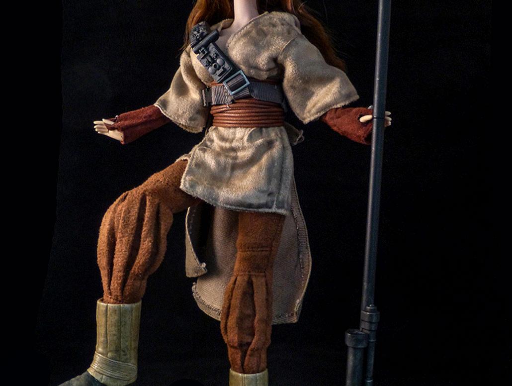 Leia Bounty Hunter Boushh Custom Doll Slideshow by jvcustoms