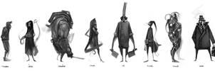 Character Designs Compilation by nerdiesid