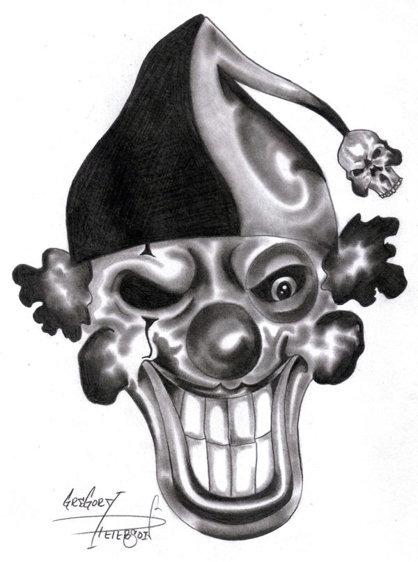 The gallery for --> Evil Clown Skull Drawings