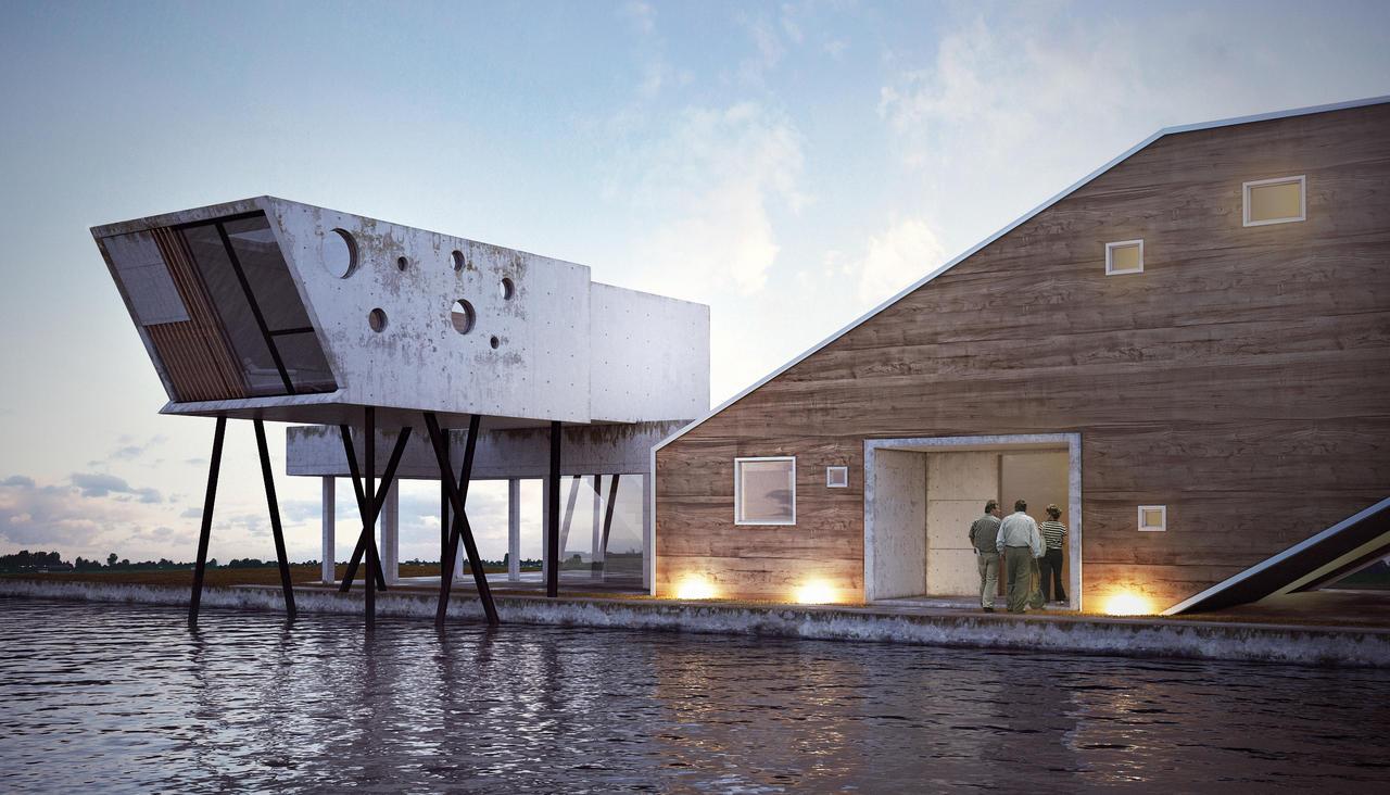 Concrete vs wood villa by bizkitfan