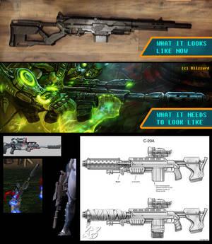 StarCraft Ghost Costume - Rifle Progress