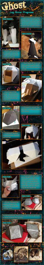 StarCraft Ghost Costume - Leg Armor Progress