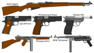 Some WWII guns