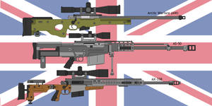 Some British sniper rifles by DeeVeeCee