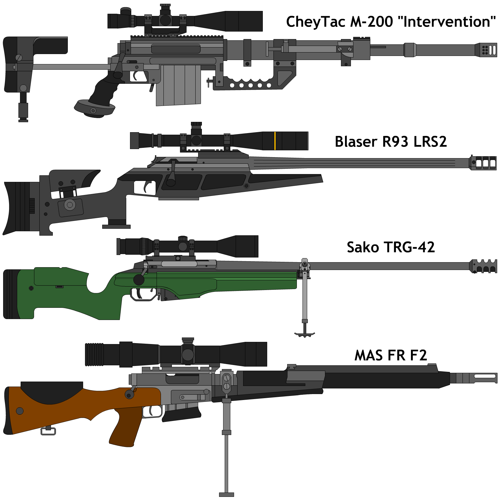 Some Bolt Action Sniper Rifles By Deeveecee On Deviantart