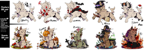 [YCH] | Halloween Puppy Tags: closed