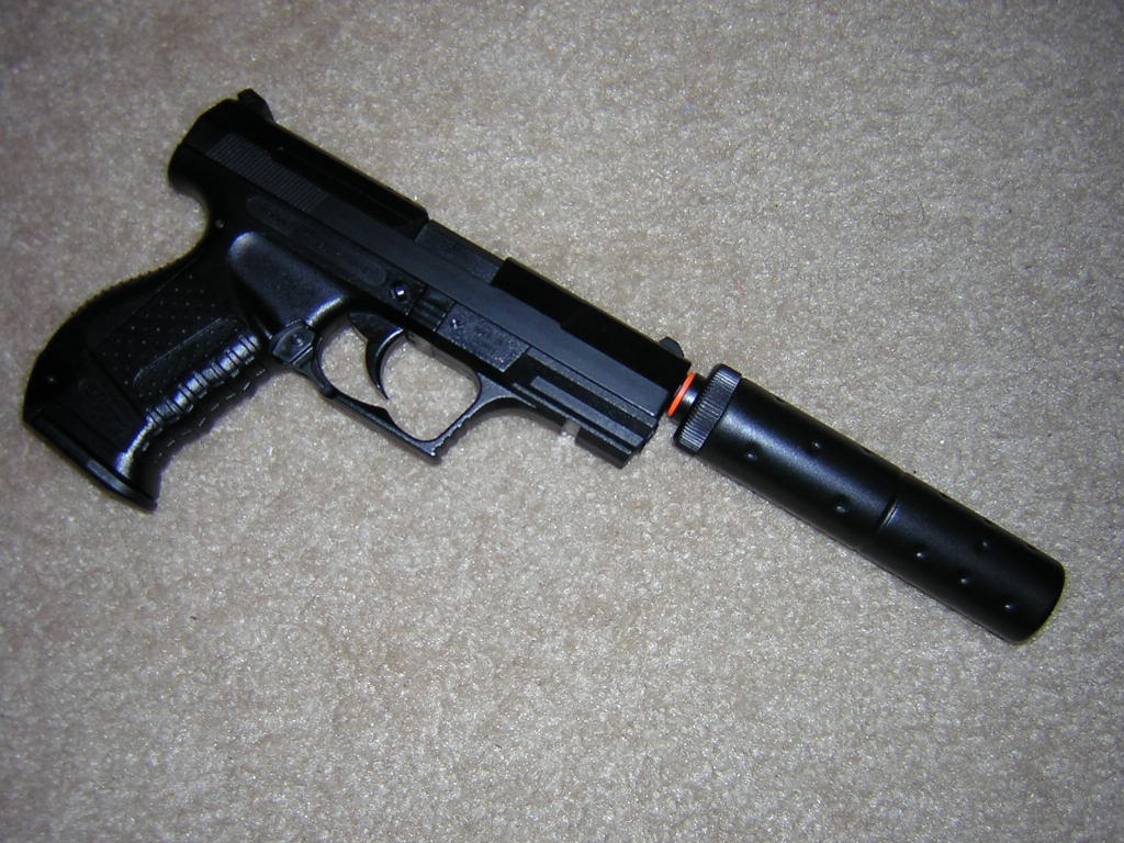 HFC Walther P99 ...P99 Airsoft Pistol With Silencer