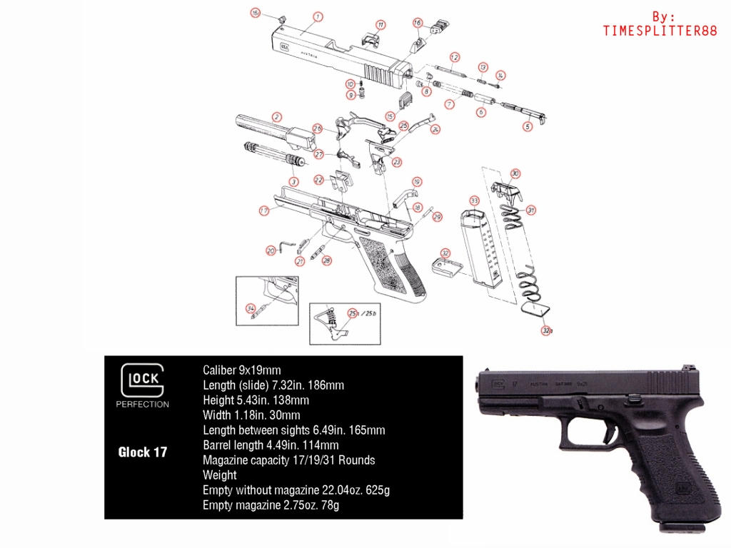 glock 17 diagram by timesplitter88 on deviantart. Black Bedroom Furniture Sets. Home Design Ideas