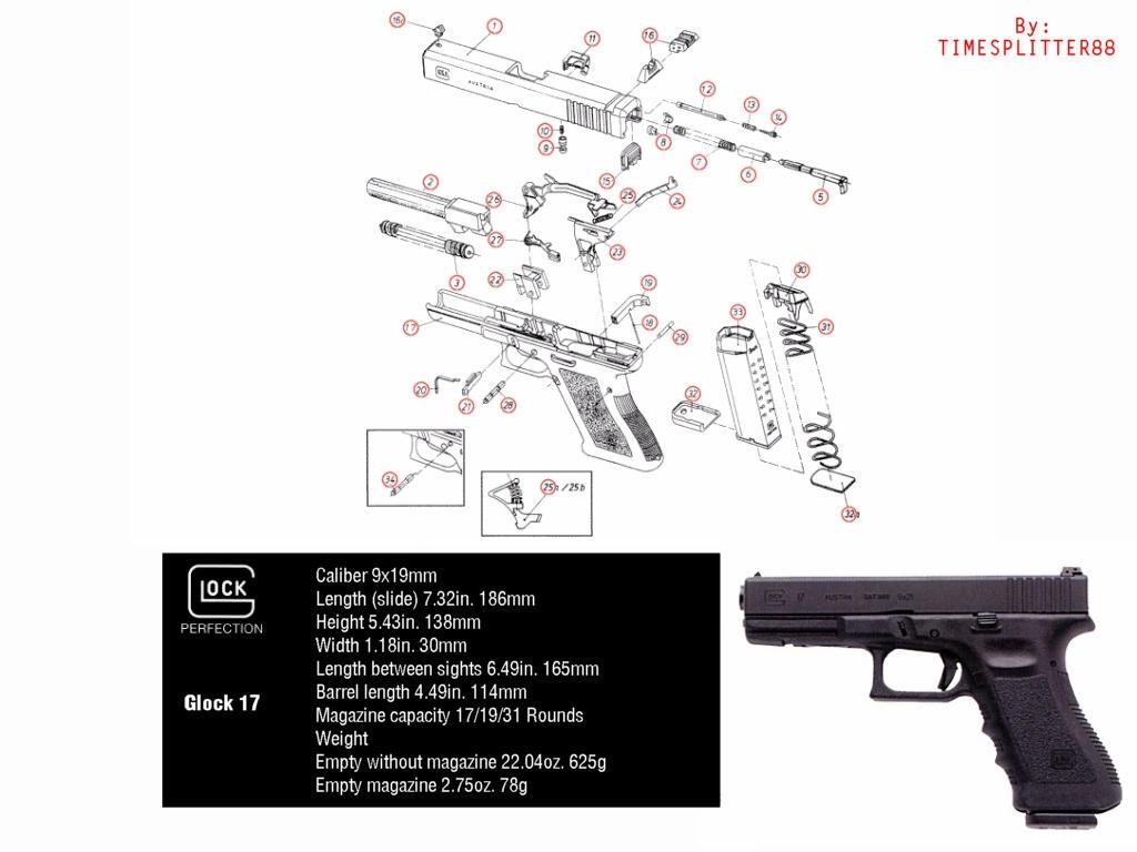 glock 17 diagram by timesplitter88 on deviantart rh deviantart com glock 17 nomenclature diagram glock 18 diagram