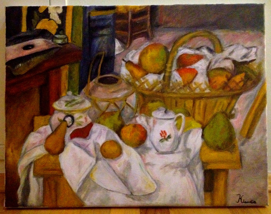 cezannes fruit and basket Robert coe student no 507140 annotate a still life painting by cezanne or van gogh page 1 of 3 still-life with fruit basket by paul cezanne chair leg.