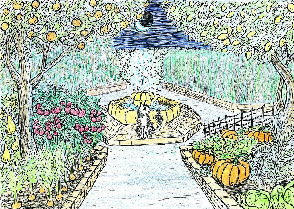 Midnight In The Garden by The-Darkwolf