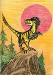 Deinonychus - Red Sun Setting