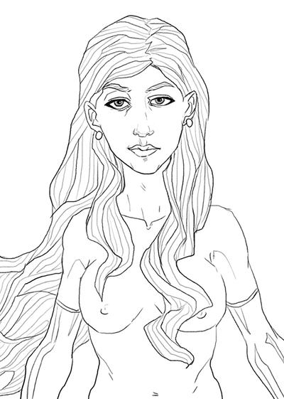 Nude Sketch by Jeyfro