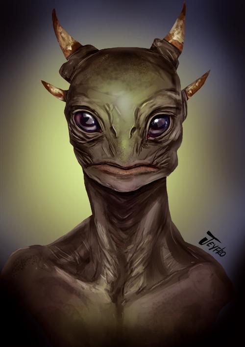 Alien study1 by Jeyfro