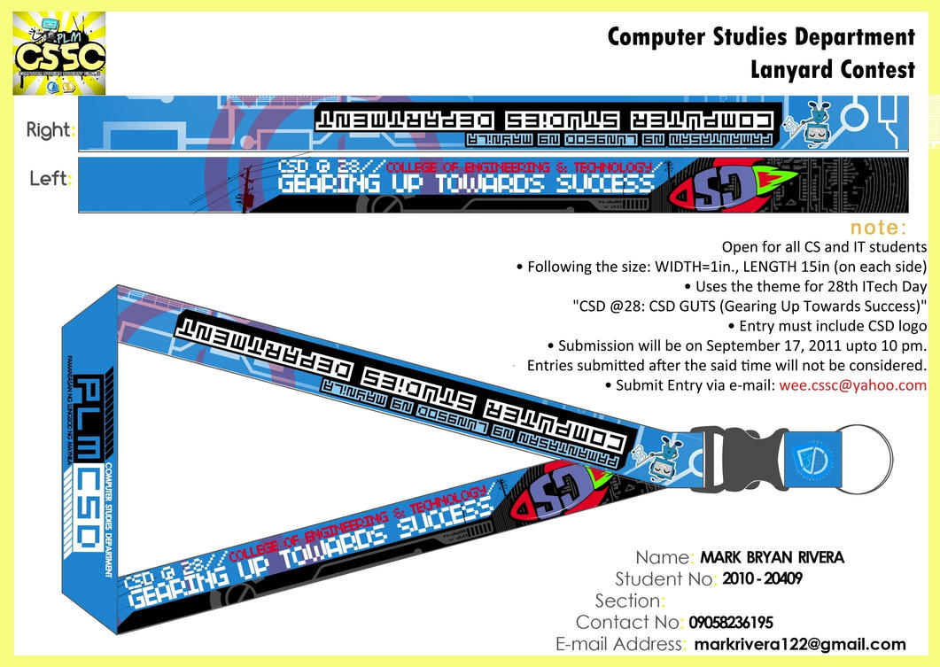 Csd Lanyard Entry 2011 By Asthemusicplays On Deviantart