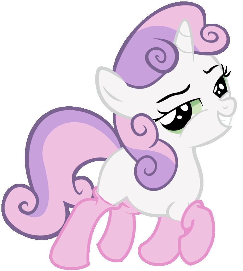 Sweetie Belle in socks! by PureZparity