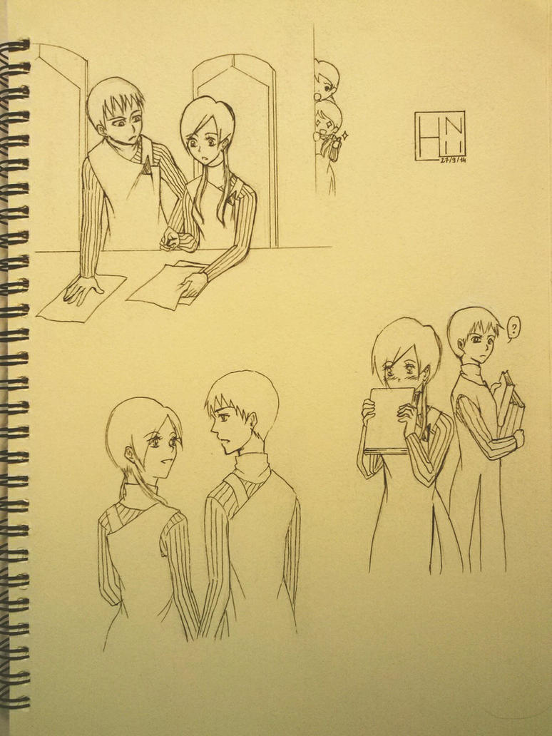 [Fantastic Children] Sketch Agi x Soreto by HiniBakaTsundere