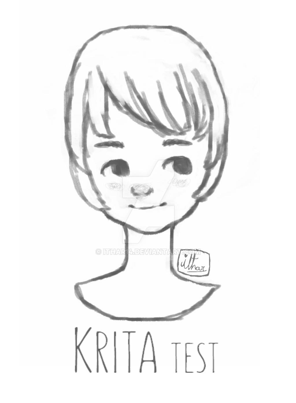 Krita Lineart : Krita test by ithar on deviantart