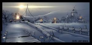 Siberian Village Environment by Spex84