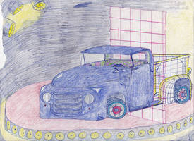 Kid Stuff--'50s pickup with wireframe!