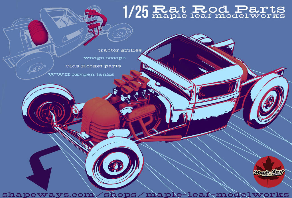 3D printed Rat Rod parts in 1/25! by Spex84 on DeviantArt