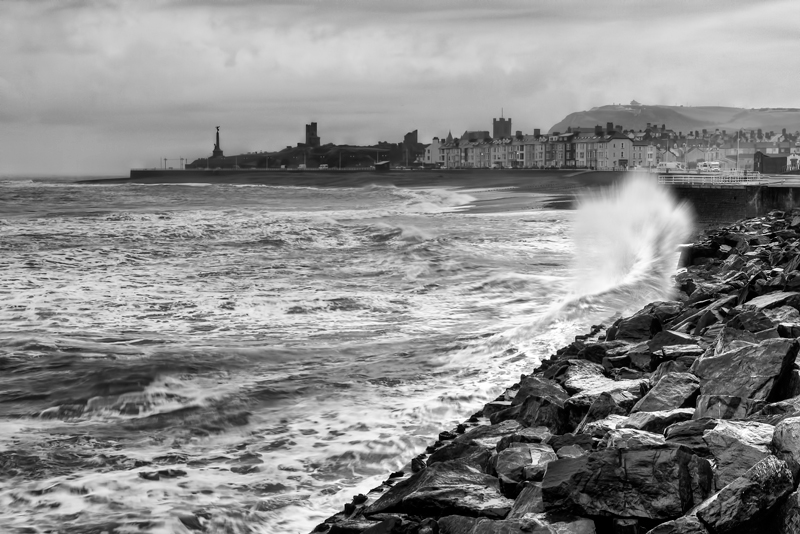 Aberystwyth in mono by CharmingPhotography