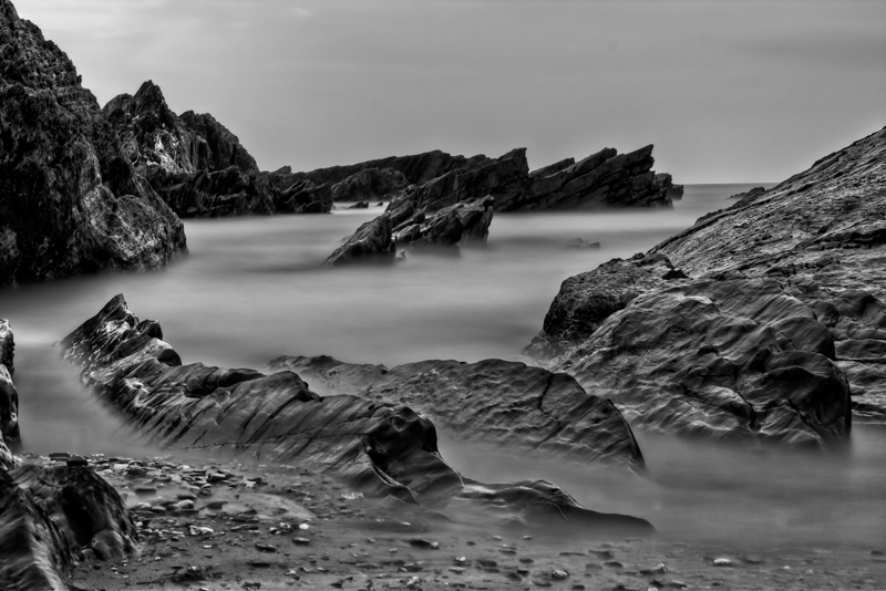 Ilfracombe coast in mono by CharmingPhotography