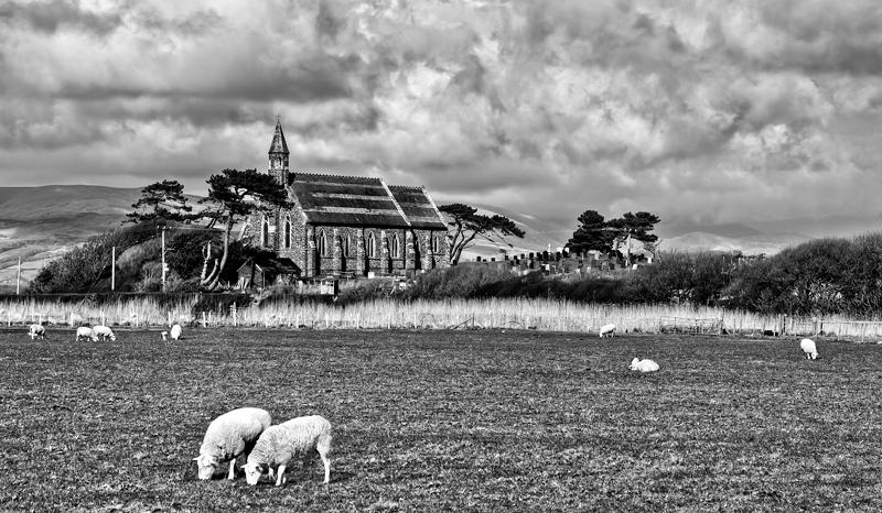 Borth Church by CharmingPhotography
