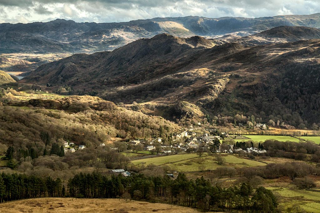 Beddgelert from above by CharmingPhotography