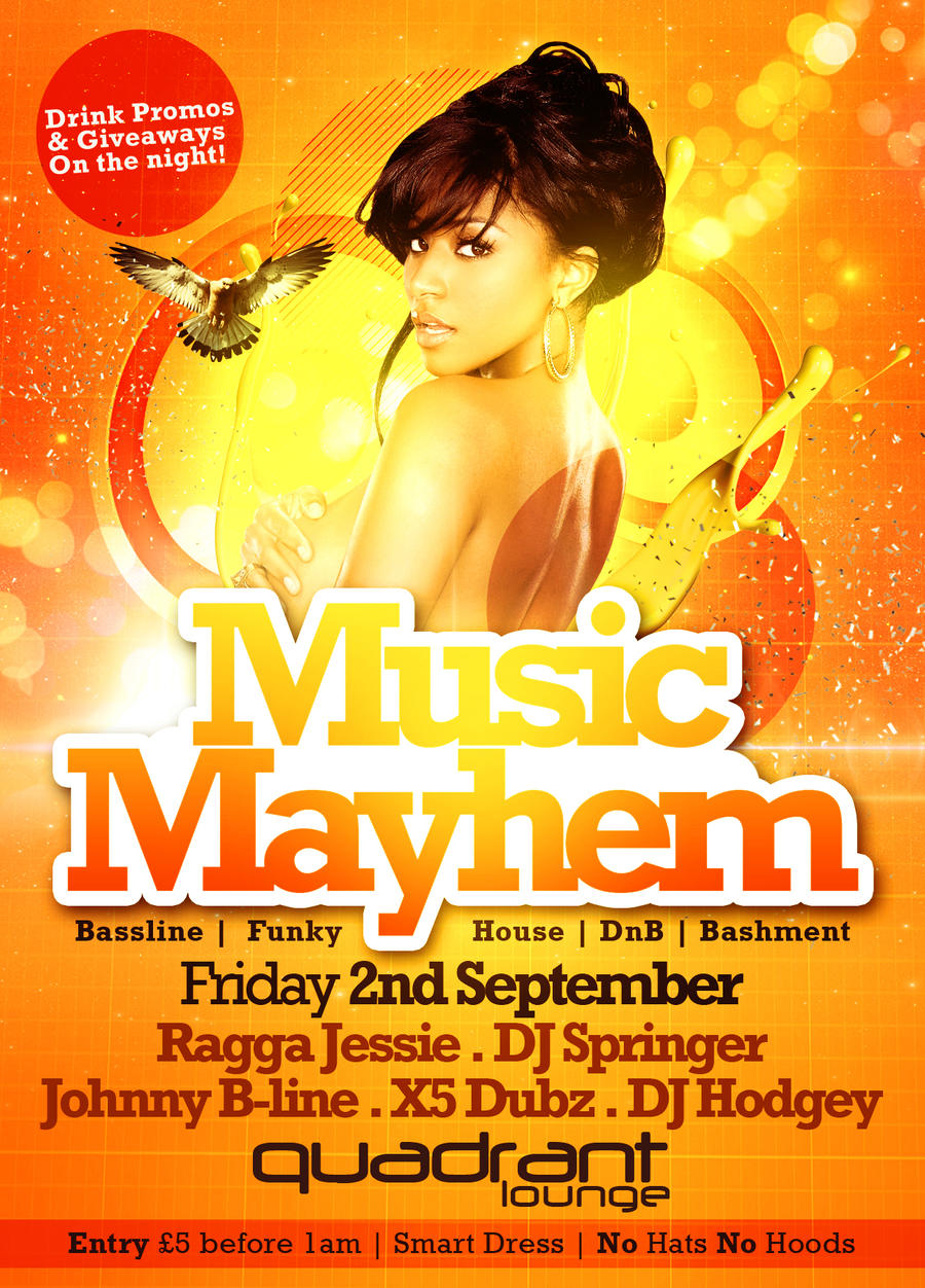 Music Mayhem Flyer By Danwilko Music Mayhem Flyer By Danwilko