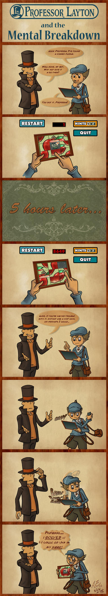 Layton and Mental Breakdown by That-one-gal